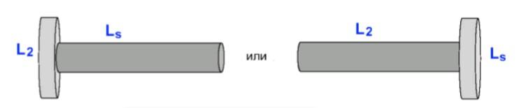Асимметричный трансформатор на стержневом незамкнутом сердечнике