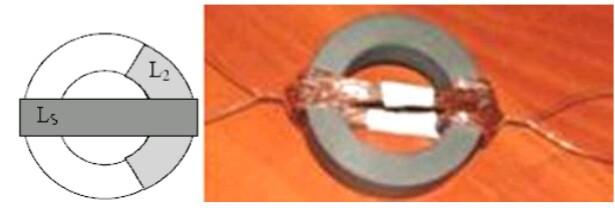 Асимметричный трансформатор на тороидального сердечнике