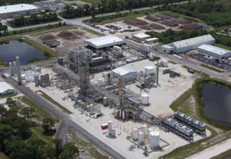 Завод для производства этилового спирта из опилок по технологии американской компании INEOS BIO