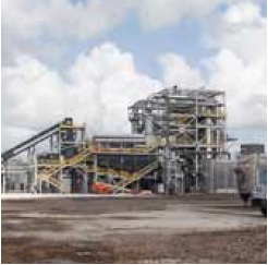 Участок газификации для преобразования отходов биомассы в синтез-газ