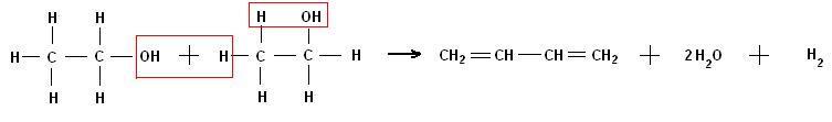 Пропуская пары этилового спирта через специальный катализатор, получают дивинил