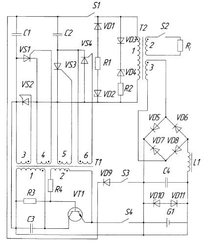 Схема автономного генератора на параметрическом резонансе