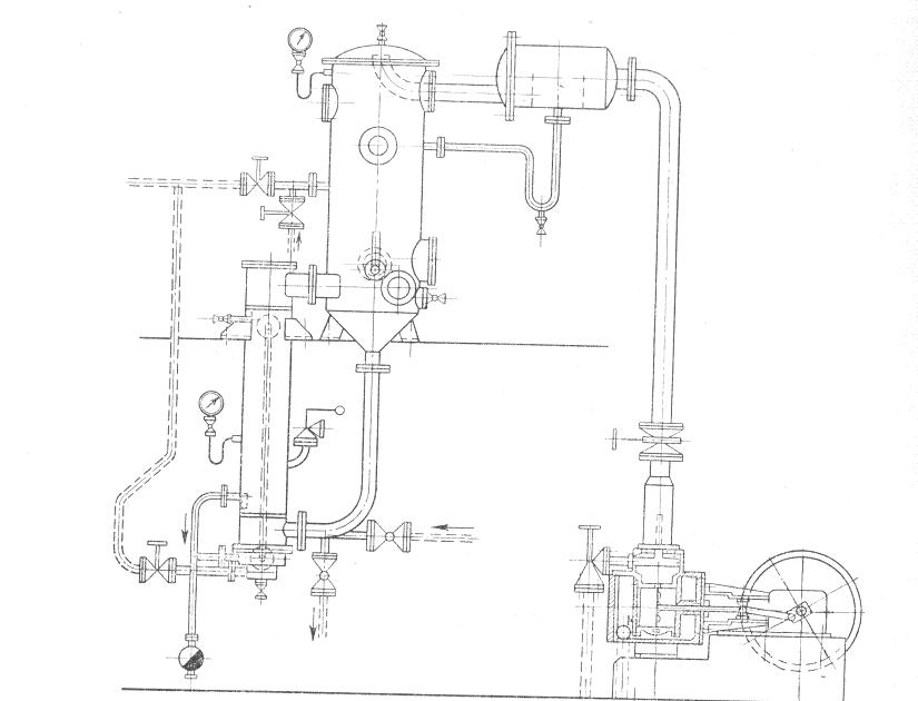Рис. I. Схема вакуум-выпарной