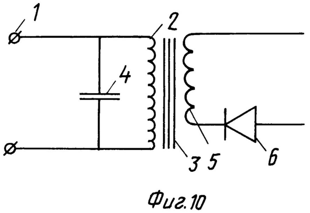 принципиальная схема образования заявленного усилителя магнитного потока в системе импульсного трансформатора