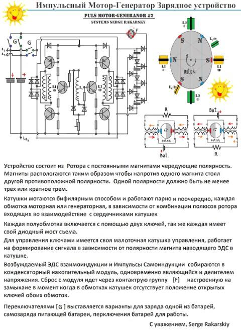 Импульсный Мотор-Генератор Зарядное устройство