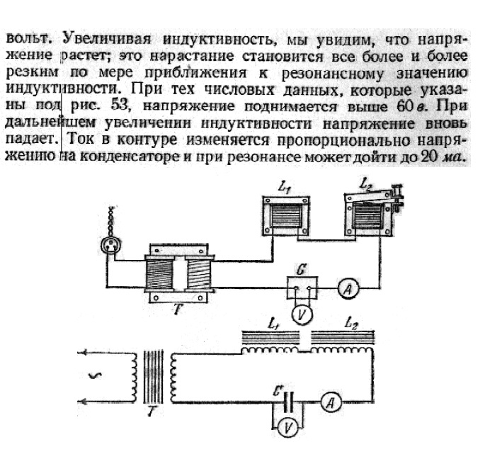 описание установки для получения резонанса на промышленную частоту 50 Гц городского тока