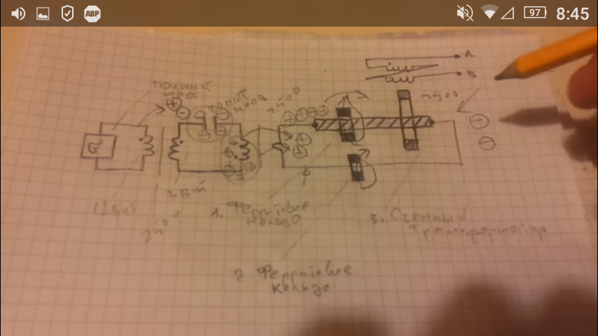 Схема резонансного трансформатора для усиления выходной мощности на ферритах